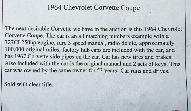 1964 Corvette C2 Coupe full